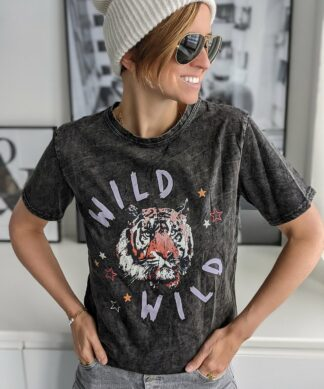 Shirt WILD – acid-grey