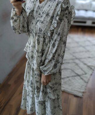 langes Kleid TINY FLOWERS – versch. Farben