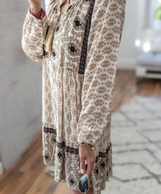 Tunikakleid BOHEMIAN – creme-beige