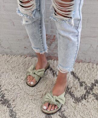 Pantolette Boucle – matcha-green