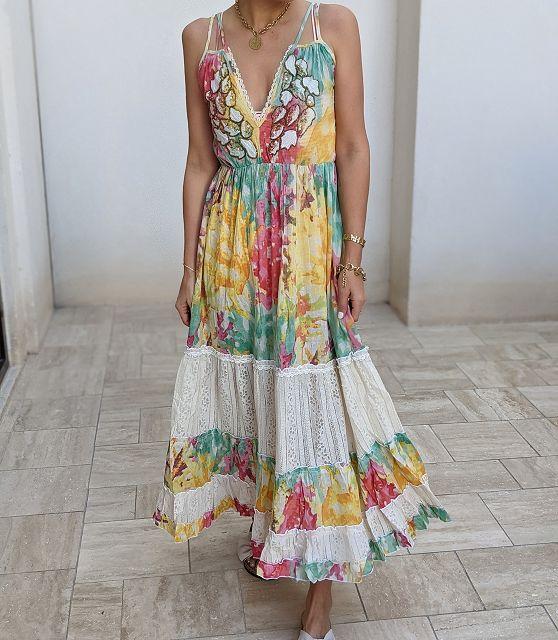 Trägerkleid JAMAIKA – floral print