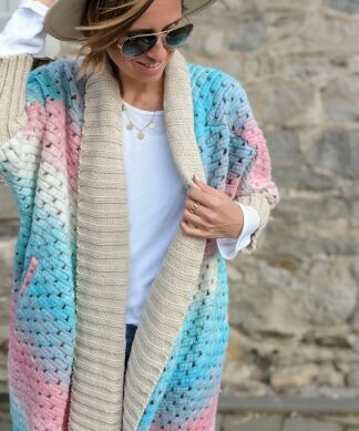 Oversize Cardigan CANDY COLOURS