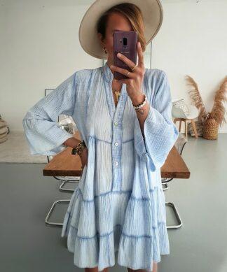 kurzes Kleid Tulum Musselin – versch. Farben
