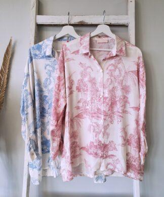 Bluse SILKY SAFARI -Oversize