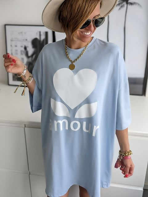 Longshirt Amour Oversize – versch. Farben