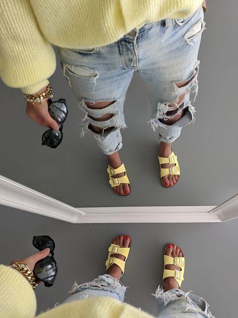 Pantolette BUCKLE UP – gelb SALE