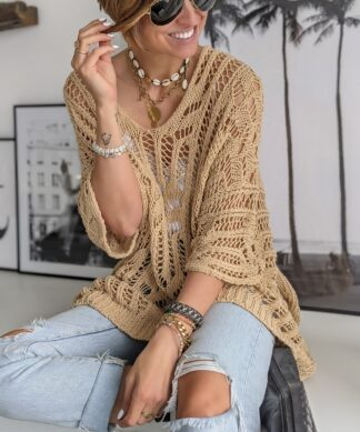 Lochstrick Pullover L'AMOUR