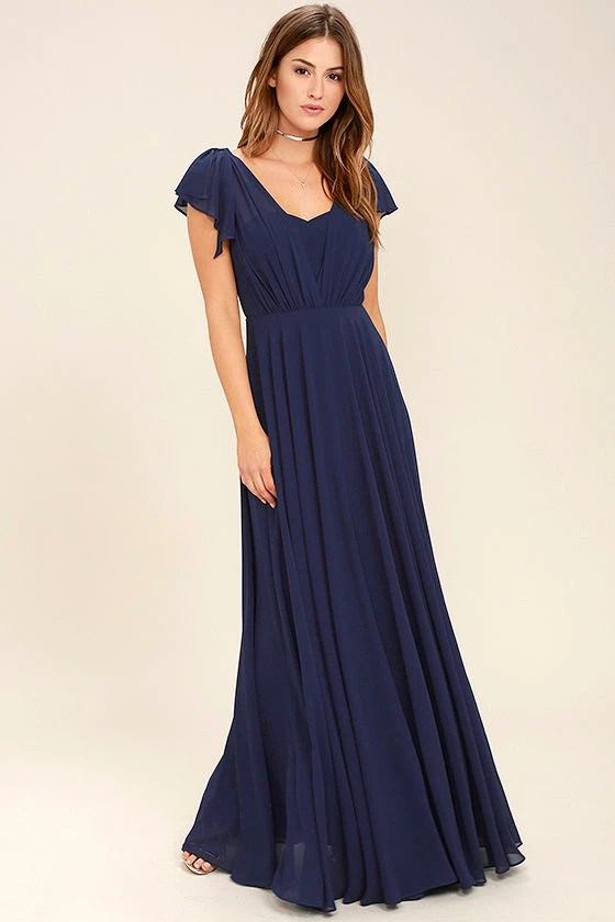 Stunning Navy Blue Dress   Maxi Dress   Gown    89 00 Falling For You Navy Blue Maxi Dress