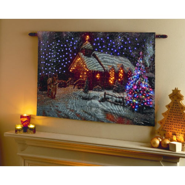 Battery Operated Christmas Canvas
