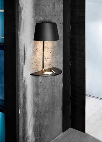Modern Lighting Fixtures With Shelves Inspired By Table Lamps