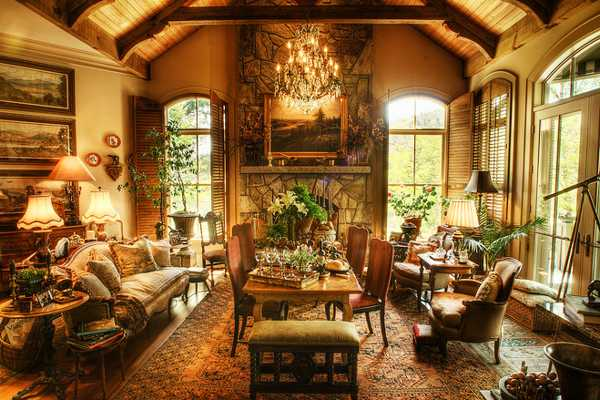 Warm Unique Rooms Decorated Living