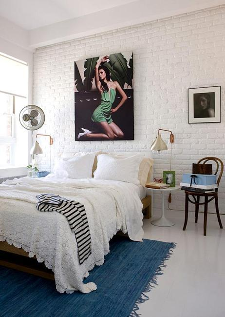 33 Modern Interior Design Ideas Emphasizing White Brick Walls