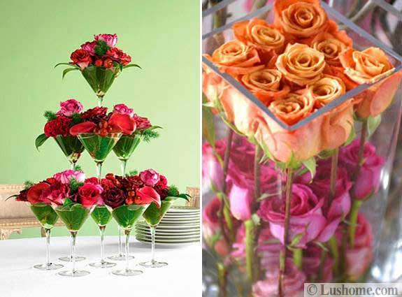 Simple Flower Centerpieces Tables