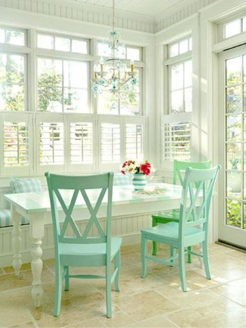 Space Saving Kitchen Nook Design With Window Seat And Storage