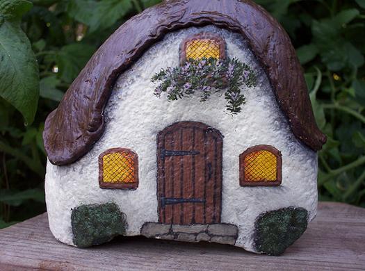 Rock Painting Ideas Little Houses For Miniature Garden Design