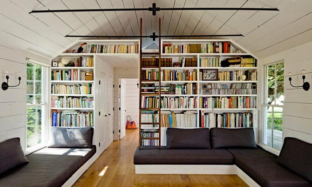 25 Modern Home Library Designs With Ladders And Stairs   Ladder Design For Home   Decor   Space Saving   Room   Tiny House   Italian