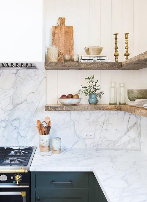 25 Corner Shelves Ideas To Improve Kitchen Storage And Look