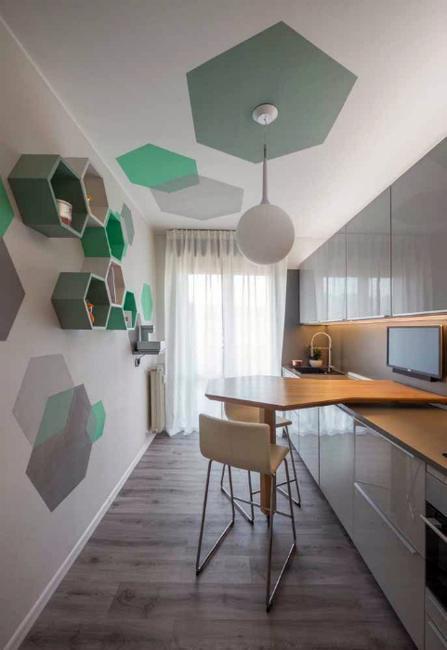 Modern White And Gray Kitchen