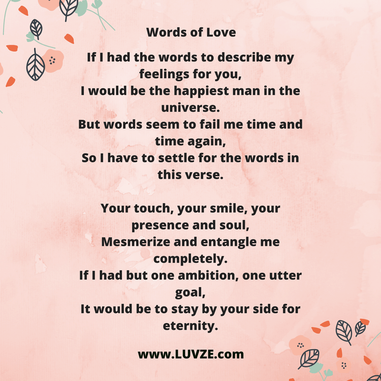 52 Cute Love Poems For Her From The Heart