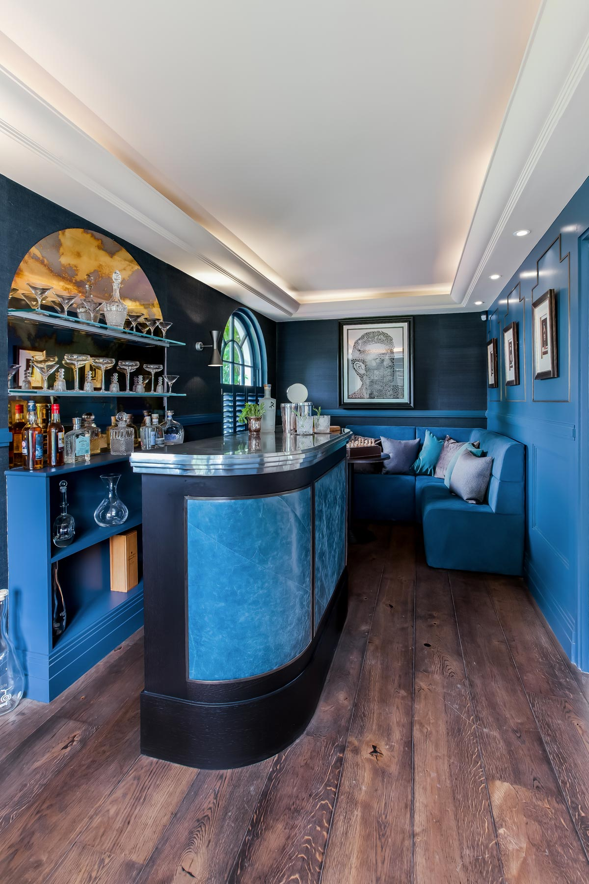The Mark Taylor Design Bespoke Blue Bar