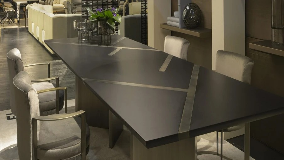 Dining Rectangular Table Margutta Natural Wood Fendi