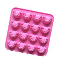 16 Cavities Pigs Silicone Mould Tray LMH010