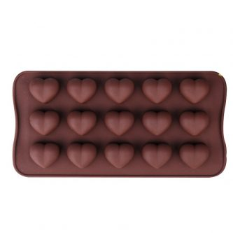 15 Cavities 3D Hearts Silicone Mould Tray LMH011