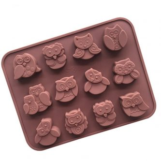 12 Cavities 3D Owls Silicone Mould Tray LMH012