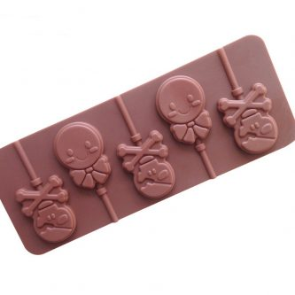 Skull & Smile Face Lollipop Silicone Mould Tray LMH038