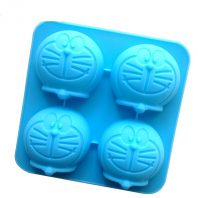 Cartoon Robots Cat Heads Silicone Mould Tray LMH039