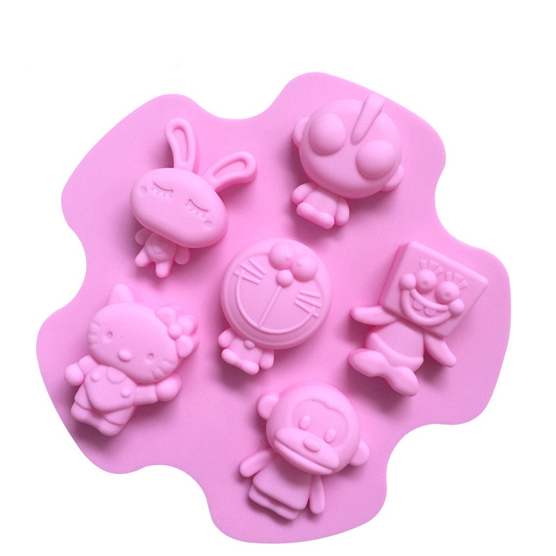 Cartoon Heads Silicone Mould Tray LMH066