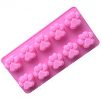 10 Cavities Cat Bear Paw Silicone Mould Tray LMH125