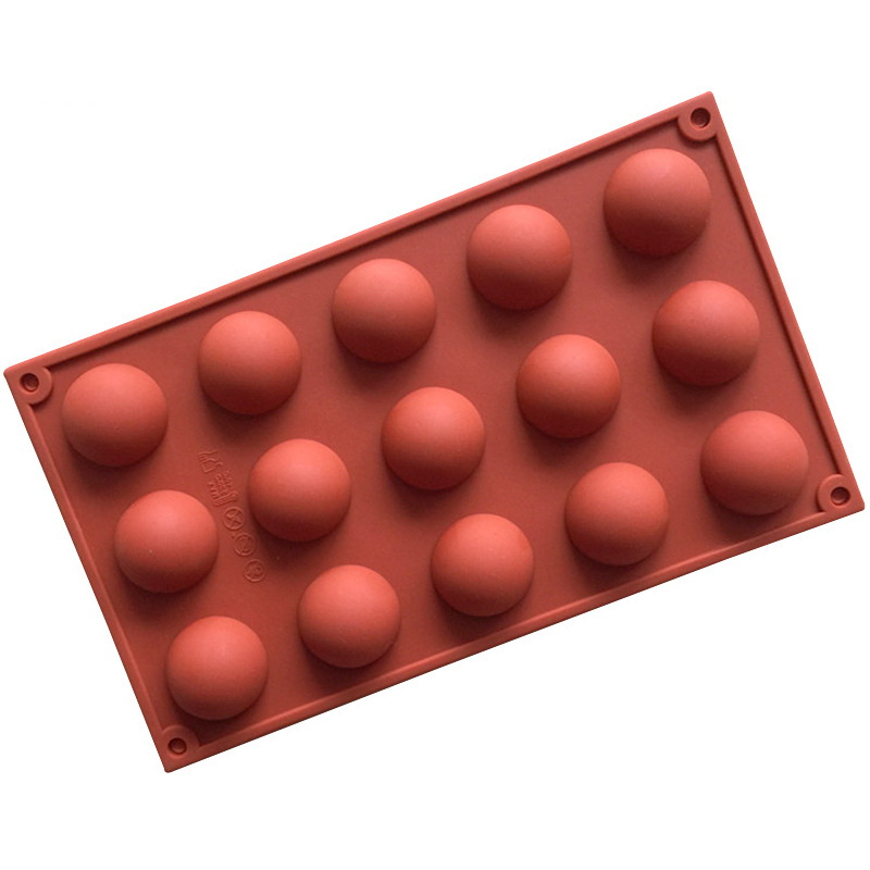 15 Cavities Half Ball Silicone Mould Tray LMH153