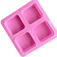 4 Cavities Square Silicone Mould Tray LMH158
