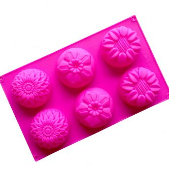 6 Cavities Flowers Silicone Mould Tray LMH182