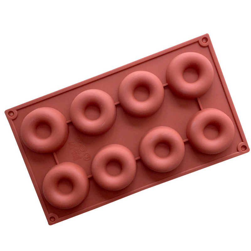 8 Cavities Doughnut Silicone Mould Tray LMH187