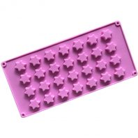 28 Cavities 3D Stars Silicone Mould Tray LMH196