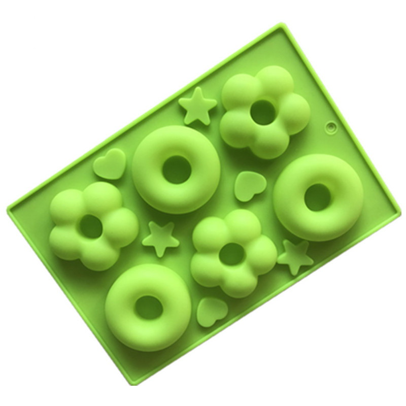 Two Kinds of Doughnuts Silicone Mould Tray LMH198