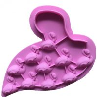 10 Cavities Flamingo Silicone Mould Tray LMH200