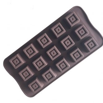 15 Cavities Square Blocks Silicone Mould Tray LMH608