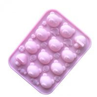 Multi Bears Heads Silicone Mould Tray LMH629