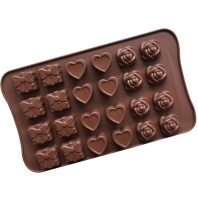 Roses Hearts Gifts Silicone Mould Tray LMH663