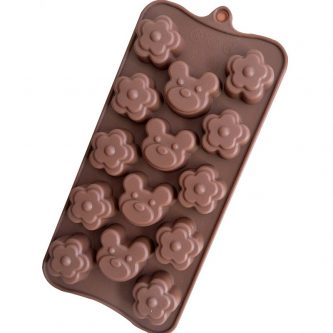 Bears Flowers Silicone Mould Tray LMH671