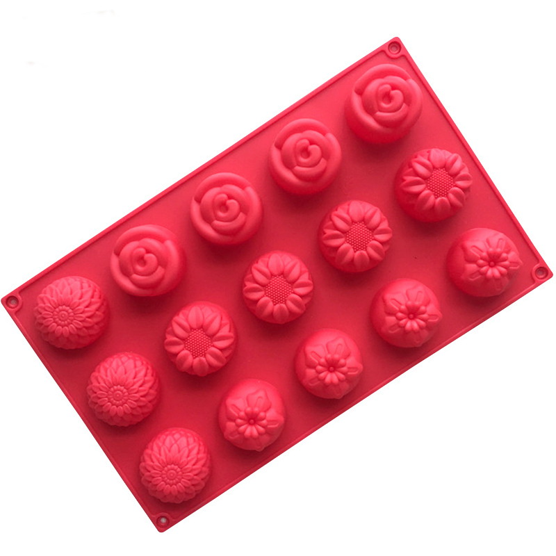 15 Cavities Flowers Silicone Mould Tray LMH709