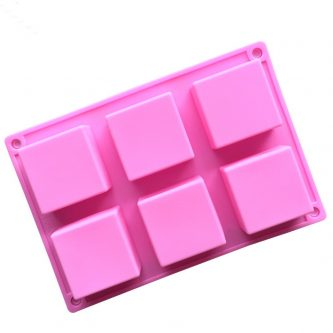6 Cavities Square Blocks Silicone Mould Tray LMH713