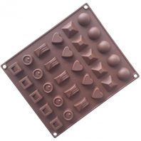 6 Different Chocolate Grid Silicone Mould Tray LMH739