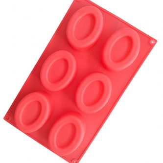 6 Cavities Ellipse Silicone Mould Tray LMH762