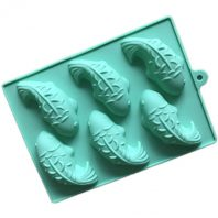 6 Cavities Fishes Silicone Mould Tray LMH789