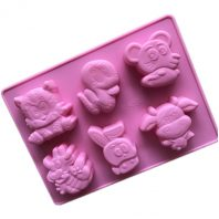 6 Cavities Cartoon Silicone Mould Tray LMH797