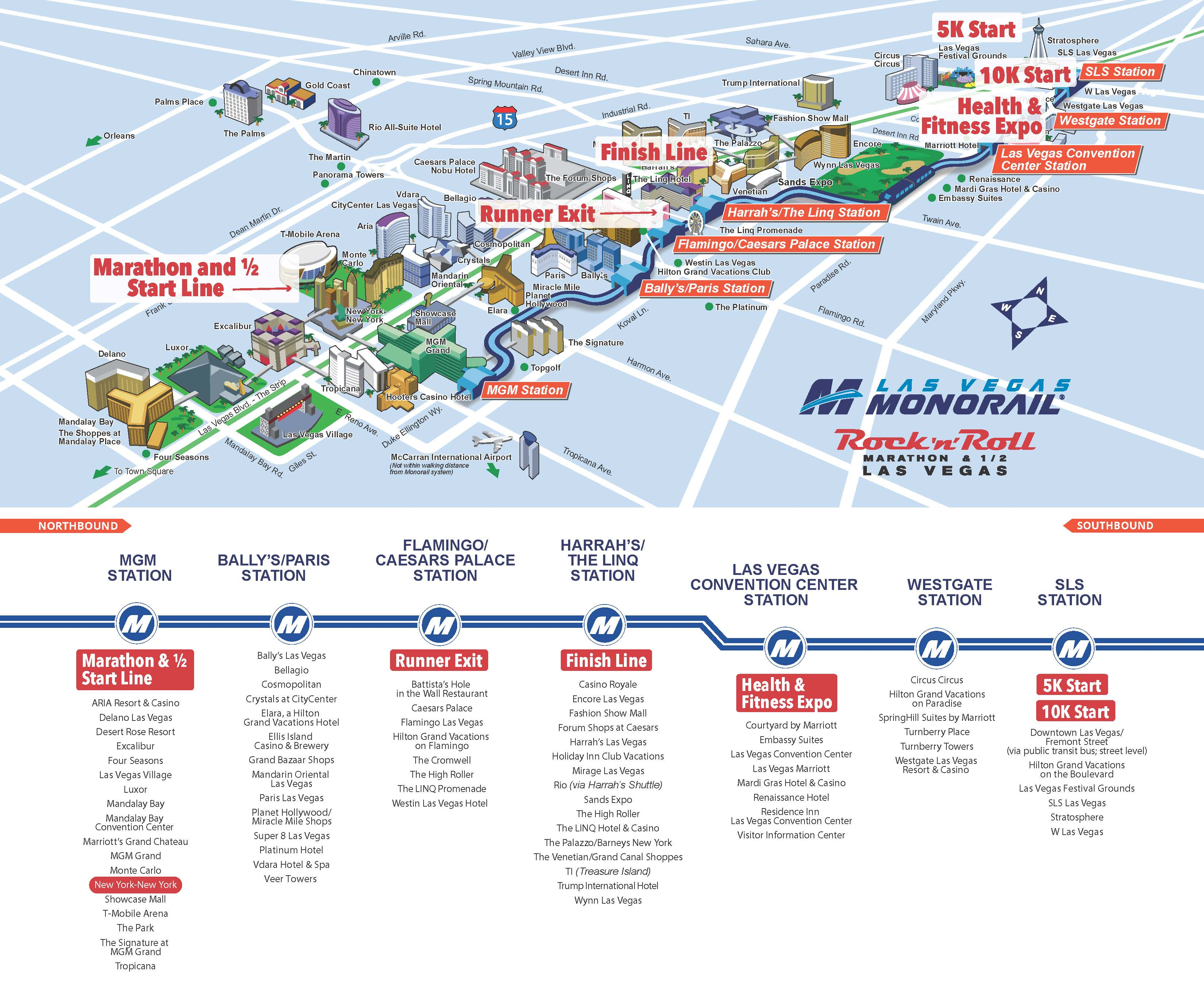 Map Vegas Monorail Stops